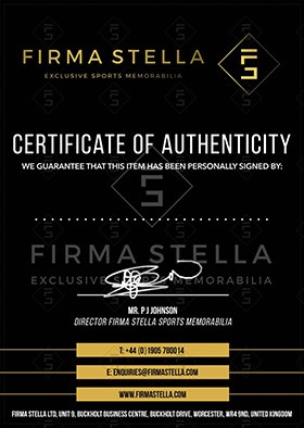 Firma Stella Certificate Of Authenticity