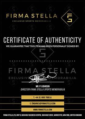 Firma Stella Certificate Of Authenticity