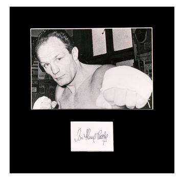 Signed Sir Henry Cooper Photo
