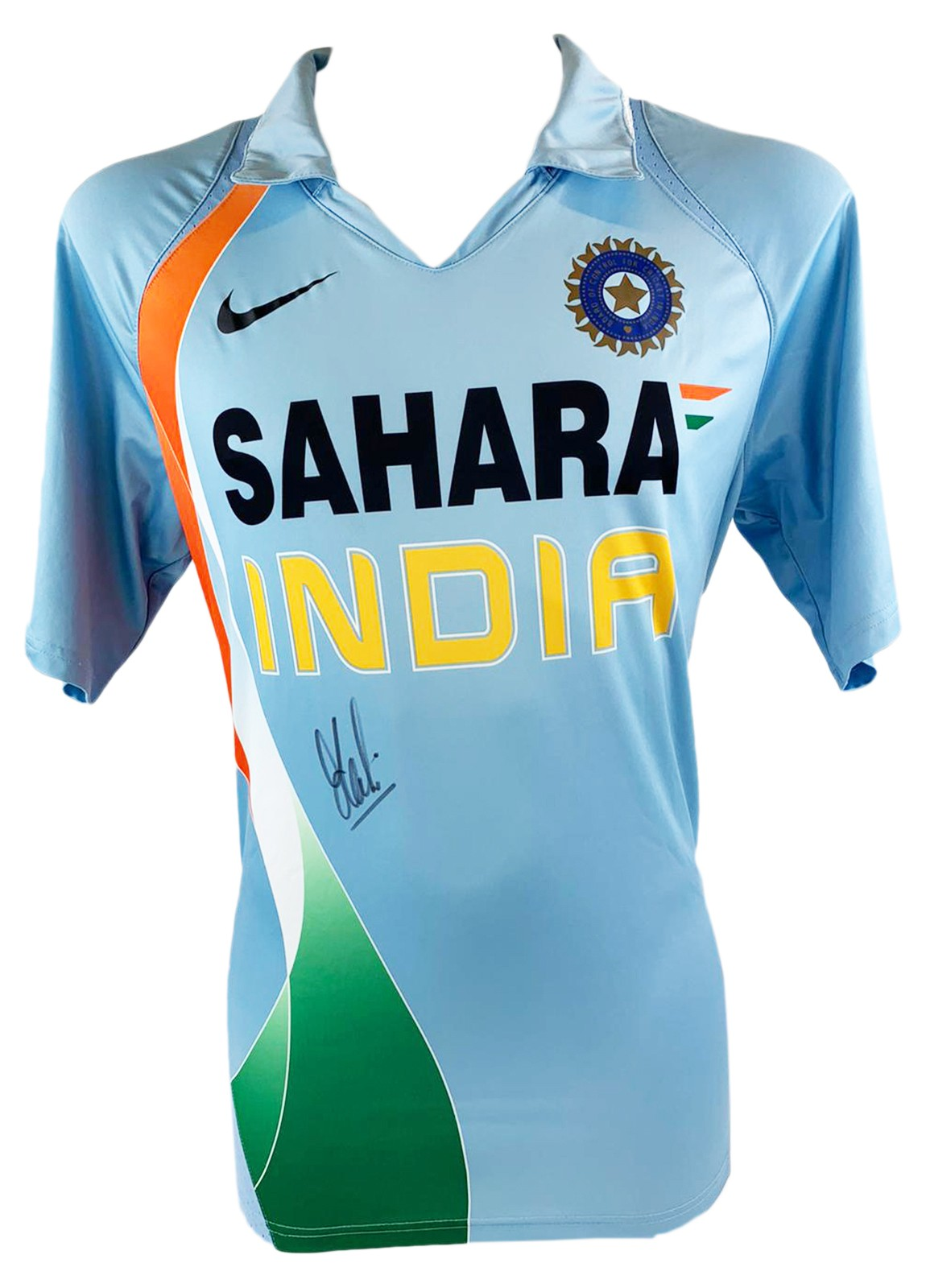 Autographed Ms Dhoni Shirt India Cricket Icon Firma Stella