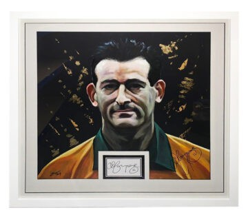 Signed David Campese Framed Display