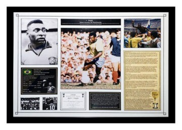 Signed Pele Photo Display