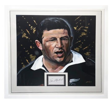 Signed Sean Fitzpatrick Framed Displa