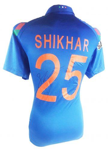 Signed Shikhar Dhawan Cricket Shirt