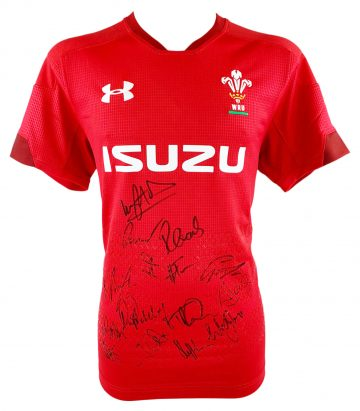 Signed Wales Rugby Jersey