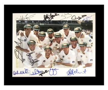 Signed Australia Cricket Photo