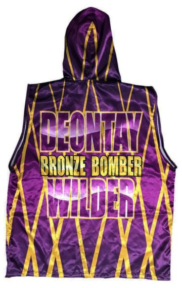 Signed Deontay Wilder Boxing Robe
