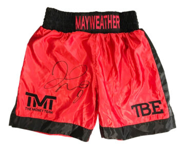 Signed Floyd Mayweather Boxing Shorts