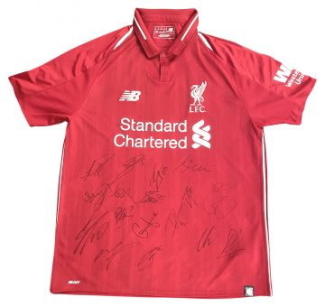 Signed Liverpool FC Champions League 2019 Top