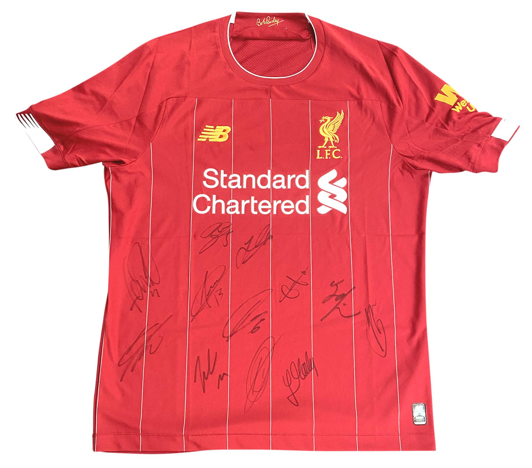 Signed Liverpool FC Shirt Premier League Champions