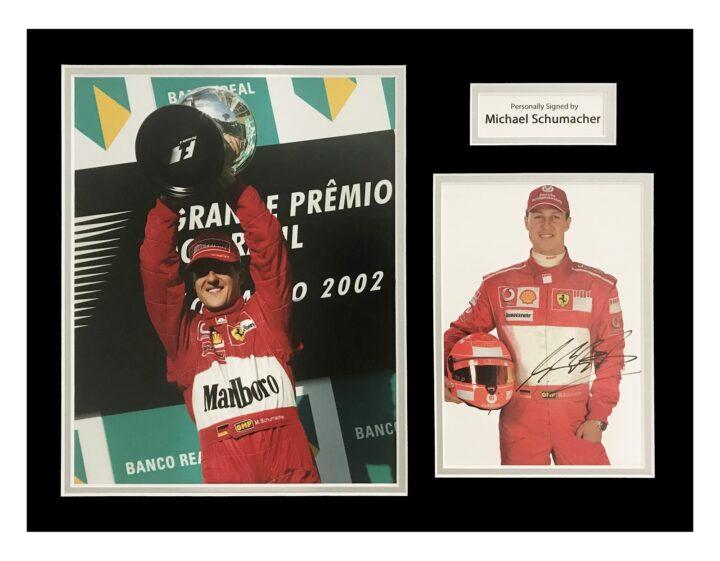 Autographed Michael Schumacher Photo