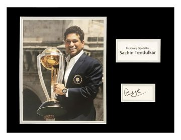 Autographed Sachin Tendulkar Photo