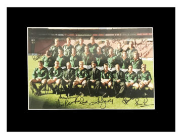 Autographed South Africa Springboks Photo Display