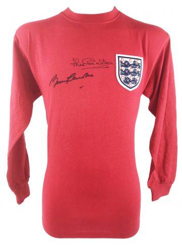 Signed Bobby & Jack Charlton Shirt
