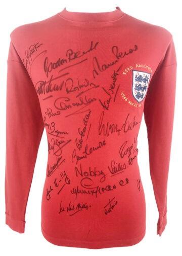 Signed England Football Jersey