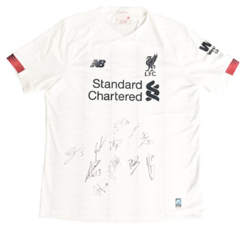 Signed Liverpool FC Away Shirt