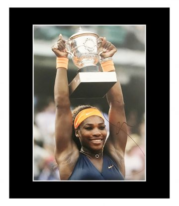 Signed Serena Williams Photo Display