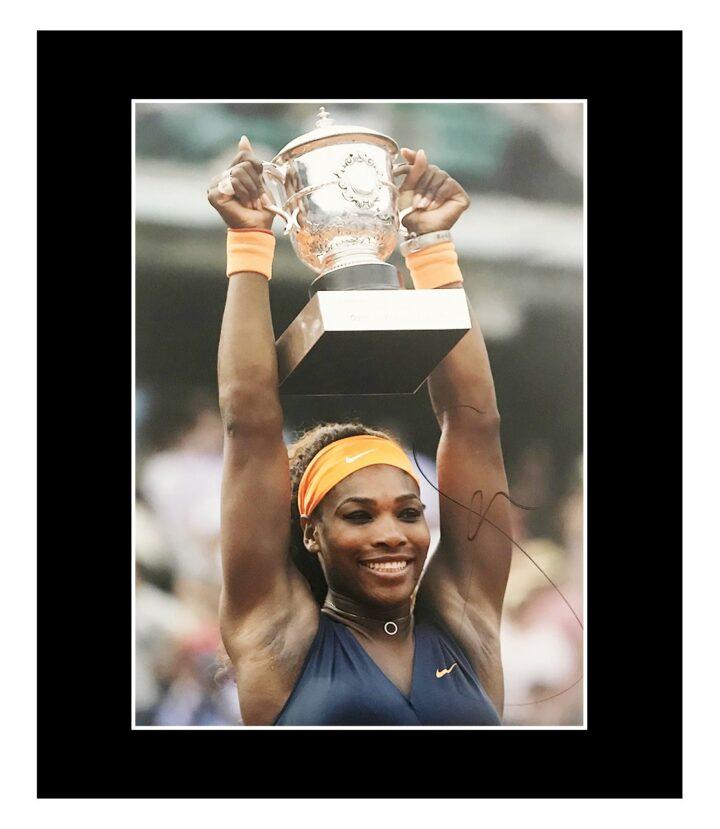Signed Serena Williams Photo Display