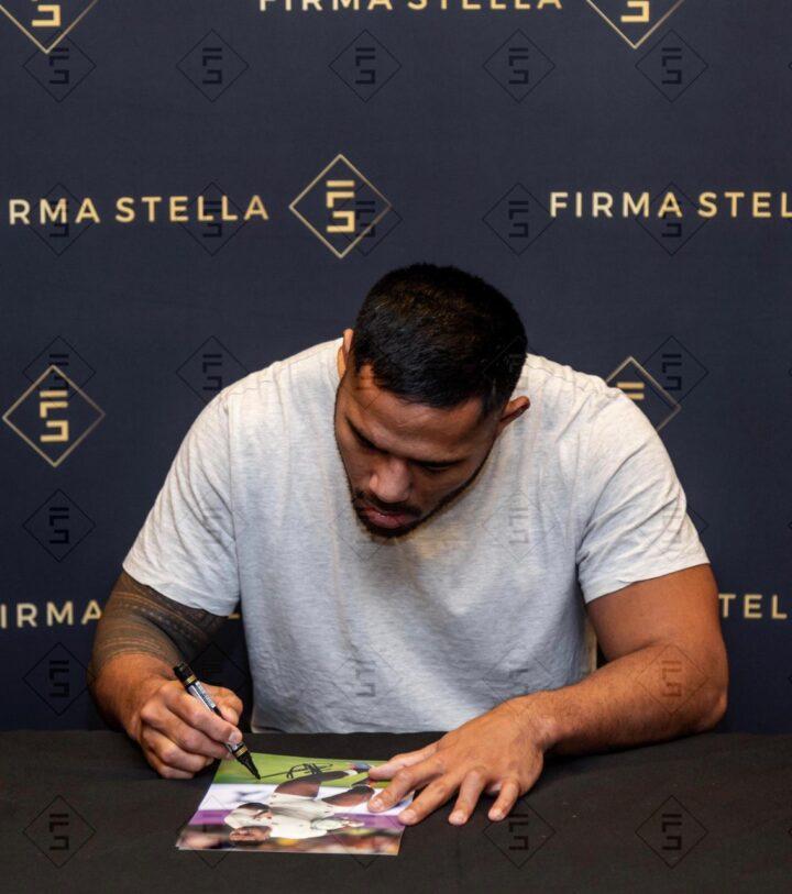 Manu Tuilagi Signing Photo