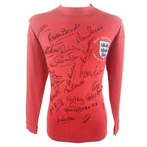 Signed England Memorabilia