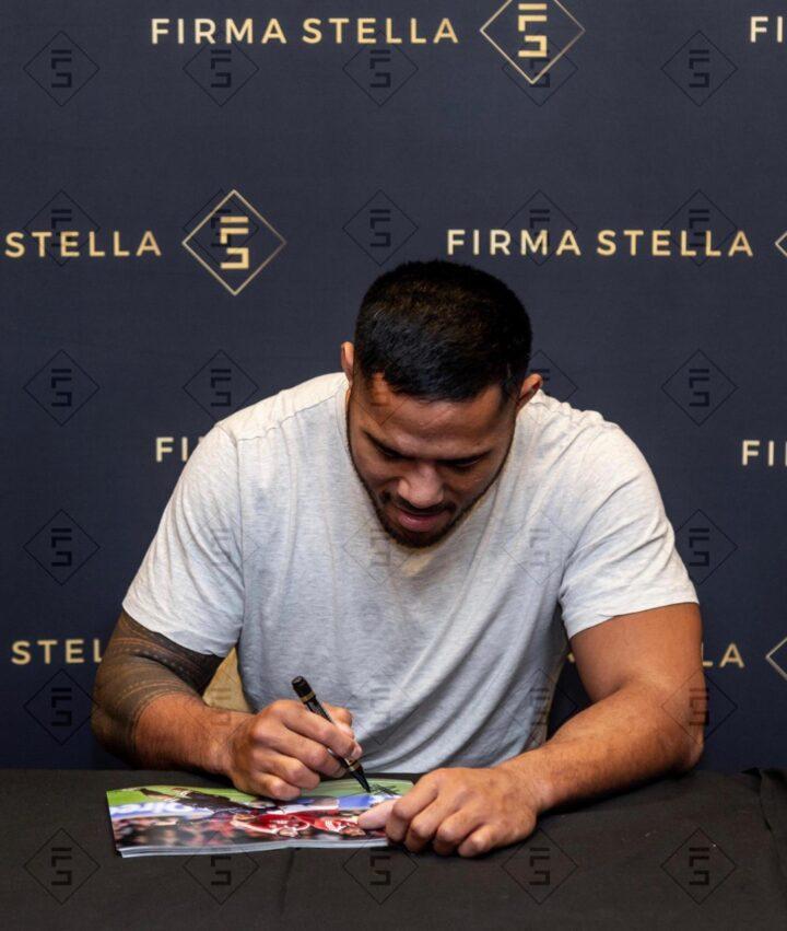 Manu Tuilagi Signing Photo Lions