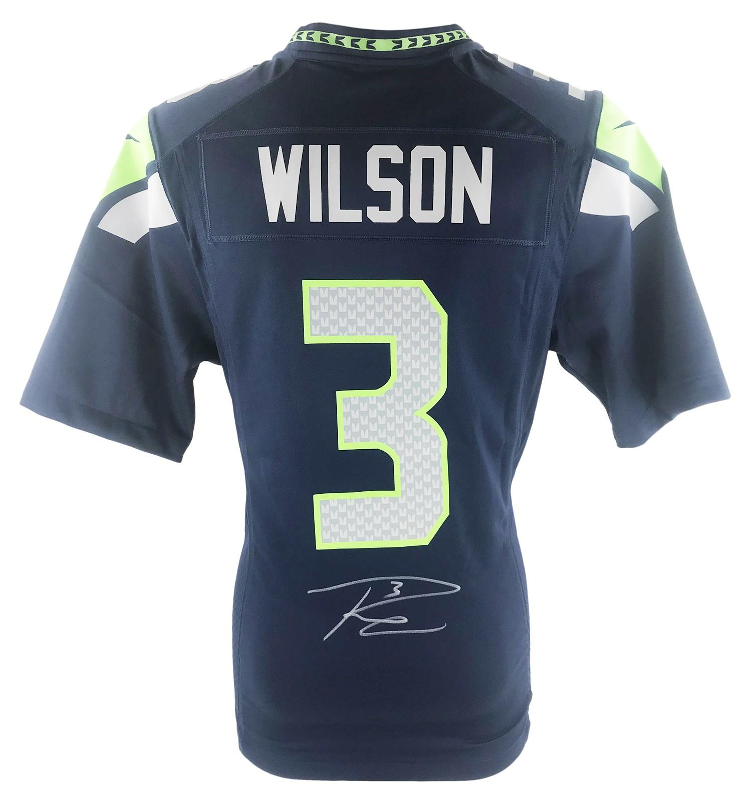 Russell Wilson Signed Jersey - Seattle Seahawks Shirt 2020