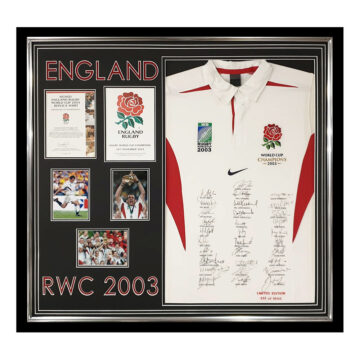 Signed England Rugby Jersey