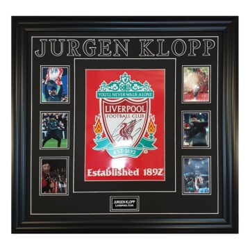 Signed Jurgen Klopp Framed Display
