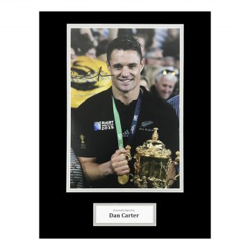 RICHIE McCAW /& DAN CARTER SIGNED PHOTO PRINT AUTOGRAPH ALL BLACKS RUGBY