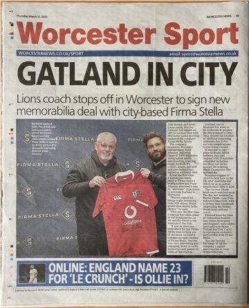 Worcester Sport - Article on Firma Stella signing Warren Gatland