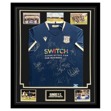 SIGNED DUNDEE FC SHIRT FRAMED – CHAMPIONSHIP PLAYOFF WINNERS 2021
