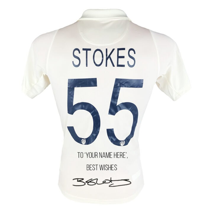Personalised & Signed cricket jersey