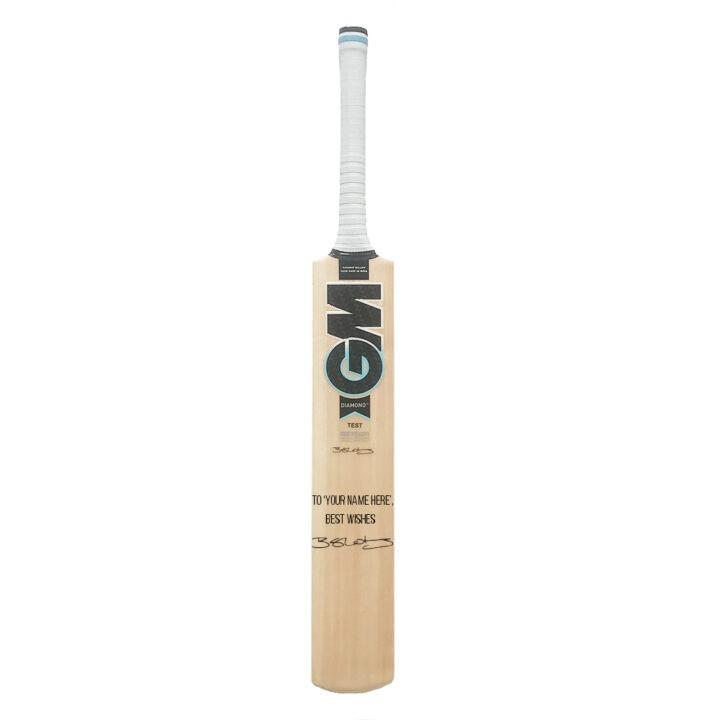 Personalised & Signed cricket bat
